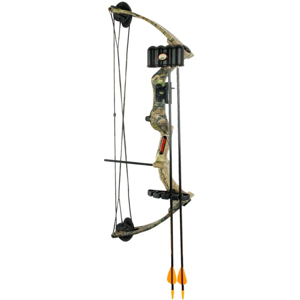 CLOSEOUTS . Bear Archeryand#39;s Warrior III compound bow is an ideal bow for teaching crucial skills, and it has a Whisker Biscuit arrow rest that helps improve accuracy and increase confidence. Available Colors: REALTREE APG.