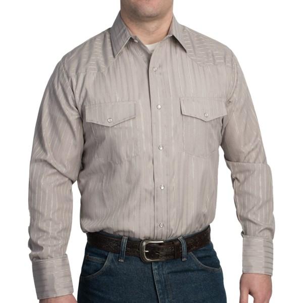 Roper Classic Metallic Stripe Western Shirt - Snap Front, Long Sleeve (For Men)
