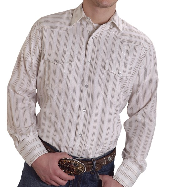 Roper Karman Classic Lurex Stripe Shirt - Long Sleeve (For Men)