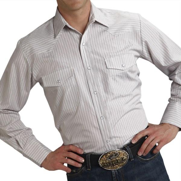 Roper Karman Classic Lurex Stripe Shirt - Long Sleeve (For Men)