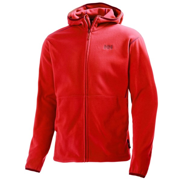 CLOSEOUTS . A classic fleece jacket topped off with a hood, Helly Hansenand#39;s Daybreaker jacket features warm and lightweight Polartecand#174; fleece. Available Colors: APPLE GREEN, ALERT RED, COBALT BLUE, ARCTIC GREY, NAVY. Sizes: S, M, L, XL, 2XL.