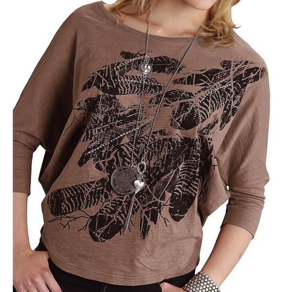 Roper Center Stage Shirt - 3/4 Dolman Sleeve (For Women)