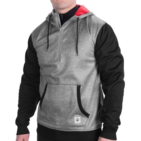 Burton Bonded Fleece Hoodie Sweatshirt - Zip Neck (For Men)