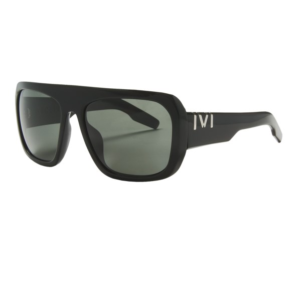 CLOSEOUTS . Round lenses, a flat top and modern curves help Ivi Deceiving sunglasses provide deceptively simple, yet stylish eye protection for everyday use. Available Colors: POLISHED BLACK/GREY.