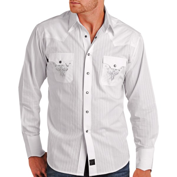 Panhandle Slim 90 Proof Satin Stripe Shirt - Long Sleeve (For Men)
