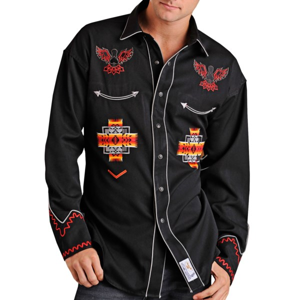 Panhandle Slim Aztec Shirt - Snap Front, Long Sleeve (For Men)