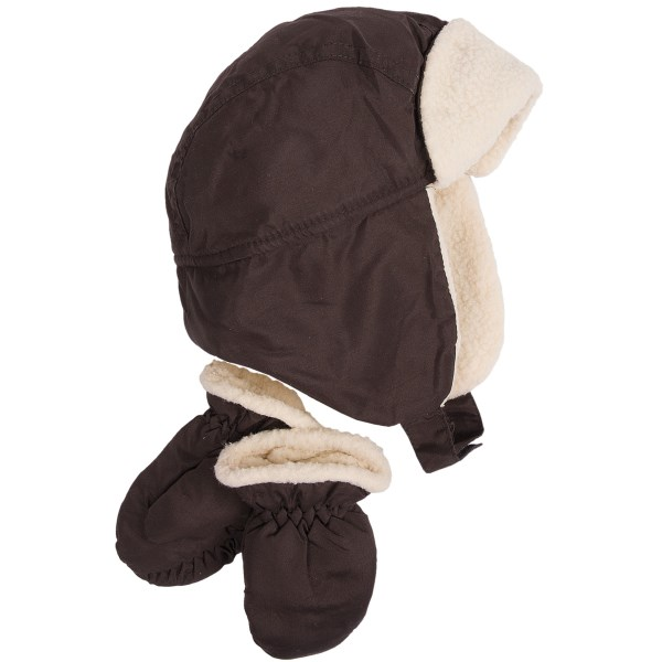 CLOSEOUTS . Grand Sierraand#39;s sherpa hat and mitten set provides lots of comfort and warmth for your favorite toddler. Available Colors: BLACK, NAVY, BROWN. Sizes: O/S.
