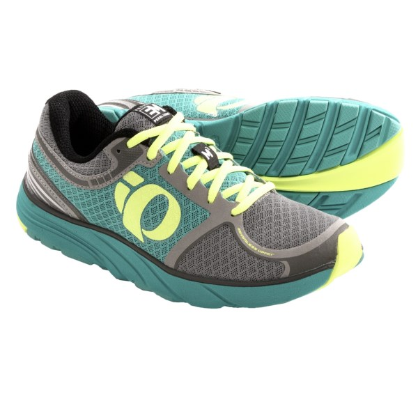 CLOSEOUTS . Pearl Izumiand#39;s EM Road M3 running shoes offer the perfect balance of lightweight support and medial stability. High-density EVA midsole foam at the medial midfoot stabilizes midfoot pronation. Available Colors: BLACK/PARADISE PINK, BLACK/SCUBA BLUE, BLACKBERRY/BLACK, GREY/BLACK. Sizes: 9, 8, 8.5, 9.5, 7.5, 10, 7, 10.5, 11, 6.5, 6.