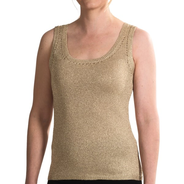 Paperwhite Lurex(R) Knit Tank Top (For Women)