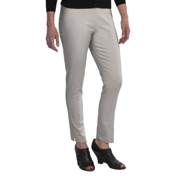 CLOSEOUTS . Beautifully sewn from a substantial, cotton-blend suiting fabric, these Amanda   Chelsea ankle pants are designed for the modern career woman with low rise, slim fit, and edgy visible zip at left waist. Available Colors: BLACK, STONE, NAVY, DOVE GREY, WHITE. Sizes: 2, 4, 6, 8, 10, 12, 14.