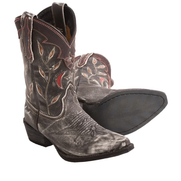 Dan Post Star And Moon Cowboy Boots - Pointed Toe (for Youth Girls)