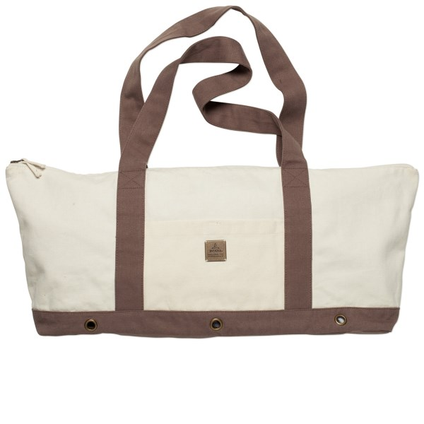 CLOSEOUTS . Quite possibly the cutest yoga tote on the market, prAnaand#39;s June Yoga bag is a stout, vibrantly woven blend of recycled hemp and organic cotton, with lining and large grommets to expel moisture. Available Colors: CURRY, MINT, NATURAL, PINKBERRY SIERRA. Sizes: XS, O/S.