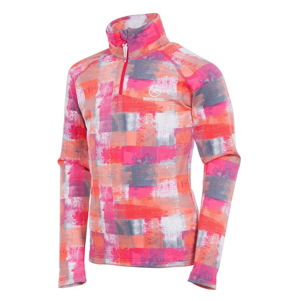 Rossignol Warm Stretch Pullover - Zip Neck  Long Sleeve (for Girls)