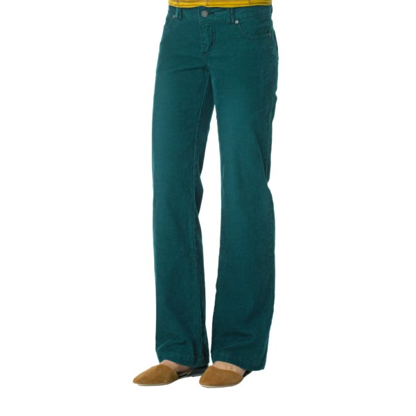 CLOSEOUTS . For impromptu outdoor ventures, prAnaand#39;s Canyon corduroy pants definitely make the grade with their old-school fit and agreeable updates like colorful waistband lining and fanciful etching on the button and rivets. Available Colors: BLUE YONDER, CARGO GREEN, COAL, INK BLUE, POMEGRANATE, RUST, BLACK, BLUE TWILIGHT, DEEP TEAL, ESPRESSO, GRAPEVINE, SAHARA. Sizes: 0, 2, 4, 6, 8, 10, 12, 14.