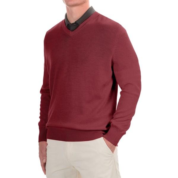 Fairway and Greene Classic V-Neck Sweater - Merino Wool (For Men)