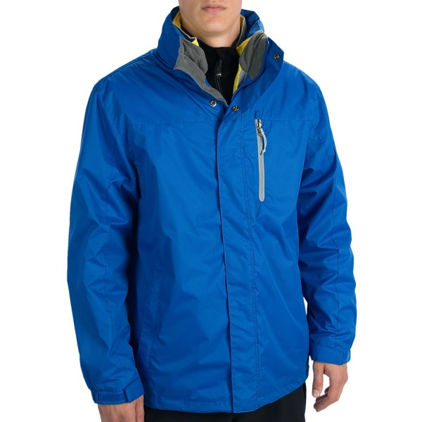CLOSEOUTS . Versatility is the name of the game for White Sierraand#39;s Three-Season jacket. The zip-out inner jacket can be worn alone on cooler days and zipped back in when the thermometer drops. Available Colors: BLACK, NAUTICAL BLUE. Sizes: S, M, L, XL, 2XL.