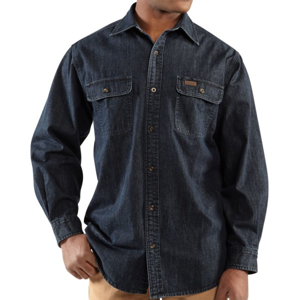 Carhartt Washed Denim Work Shirt - Long Sleeve (For Men)