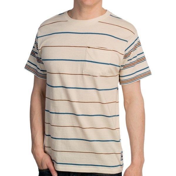 CLOSEOUTS . No big deal, Billabongand#39;s 2 Ups T-shirt is just an ordinary cotton tee, right? WRONG. The unassuming striped crew neck has secret magical powers that can only be enjoyed after itand#39;s been bought and worn. Available Colors: MARINE, ROSE, VINTAGE WHITE. Sizes: S, M, L, XL, 2XL.