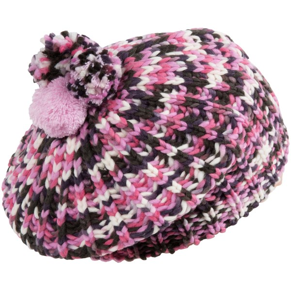 CLOSEOUTS . A warm, colorful acrylic knit with three different pompoms gives this San Diego Hat Company beret triple the appeal on chilly winter days. Available Colors: MULTI. Sizes: L, 5/7YR.