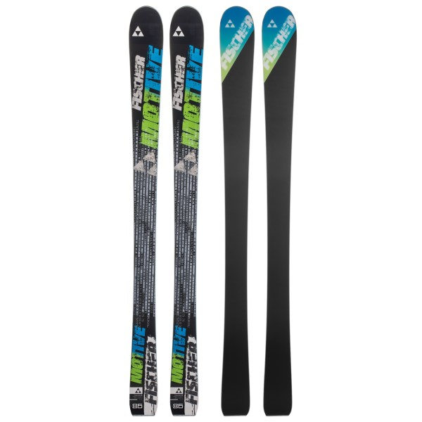 CLOSEOUTS . Fischerand#39;s Motive alpine skis provide excellent torsional rigidity and stiffness for hard charging skiers. The All-Mountain rocker profile allows you to float over powder and crud while still holding a strong edge on hardpack. Available Colors: SEE PHOTO. Sizes: 161, 168, 182.