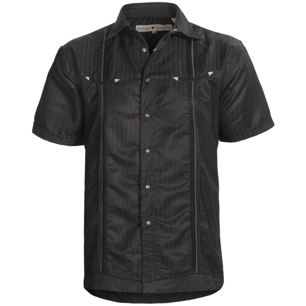 Rancho Estancia Tick Stripe Shirt - Snap Front, Short Sleeve (For Men)