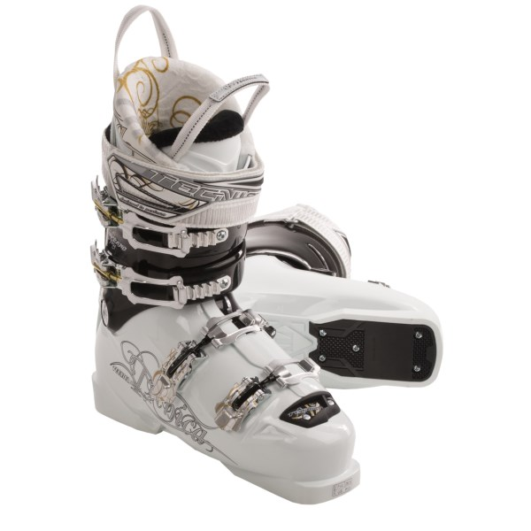 CLOSEOUTS . Tecnicaand#39;s Viva Inferno 2 Fling ski boots offer warmth, comfort and performance for skilled female skiers. The low-volume fit and lower cuff height is perfect for smaller skiers. Available Colors: WHITE. Sizes: 4.5, 5, 5.5, 6, 6.5, 7, 7.5, 8, 8.5, 9, 9.5, 10, 10.5.