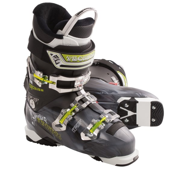CLOSEOUTS . With moderate flex, a lightweight, three-buckle design and the Cuff Mobility System, Tecnica Cochise 90 ski boots provide convenient, comfortable performance from groomers to bumps to the sidecountry. Available Colors: SMOKE. Sizes: 22, 22.5, 23, 23.5, 24, 24.5, 25, 25.5, 26, 26.5, 27, 27.5, 28, 28.5, 29, 29.5, 30, 30.5.