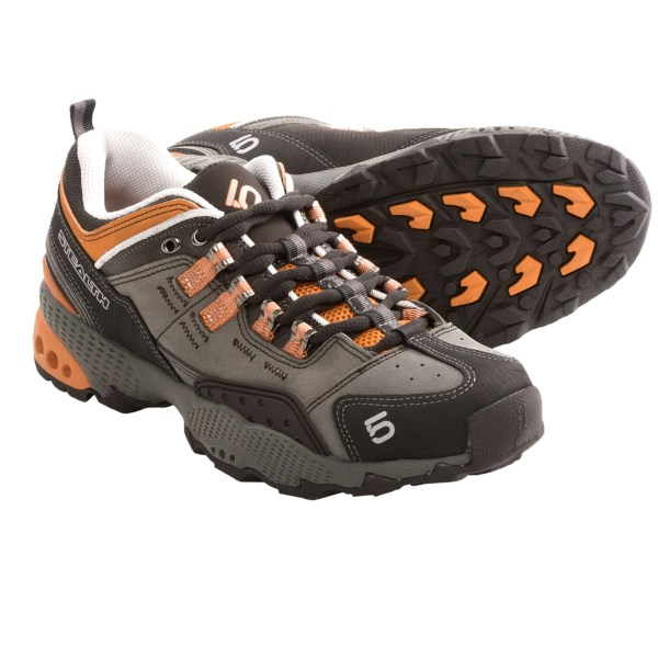CLOSEOUTS . With a reinforced nubuck upper and cushioned midsole, Five Ten 5/10 Dome hiking shoes are flexible enough for fast and light hikers and stable enough for trail runners who encounter technical terrain. Available Colors: APRICOT. Sizes: 6, 6.5, 7, 7.5, 8, 8.5, 9, 9.5.