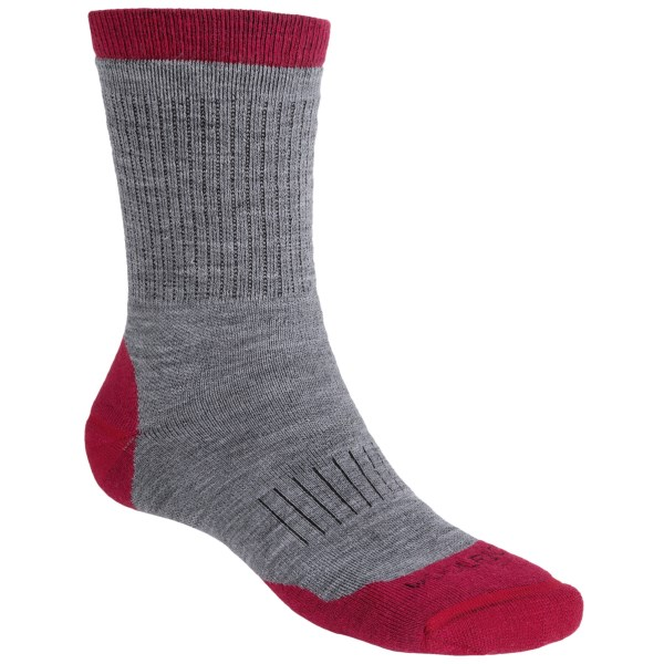 Woolrich Spruce Creek Hiker Socks   Merino Wool  Midweight  Crew (For Men)   KHAKI/BROWN (M/L )