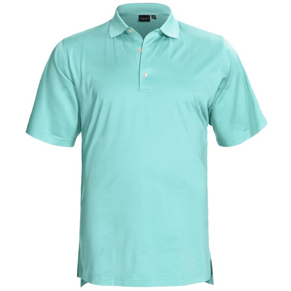 CLOSEOUTS . The best just keeps getting better! Fairway andamp; Greeneand#39;s Signature Solid Lisle polo shirt is made of long-staple Egyptian Giza cotton, double mercerized to enhance both its softness and smooth feel. Available Colors: SOLID BEGONIA, SOLID ORANGE PEEL, BALTIC, CLASSIC BLUE, CRYSTAL SPRINGS, SUGAR PINK, SUNRISE. Sizes: L, 2XL, S, M, XL, 3XL.