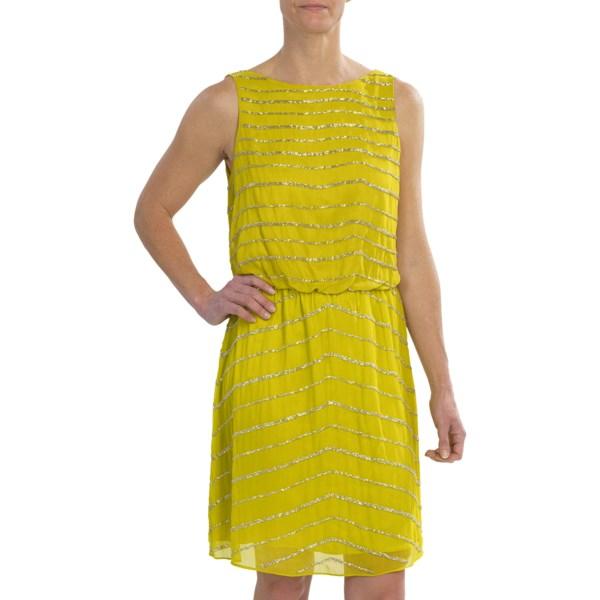 Tahari Beaded Chiffon Dress - Sleeveless (for Women)