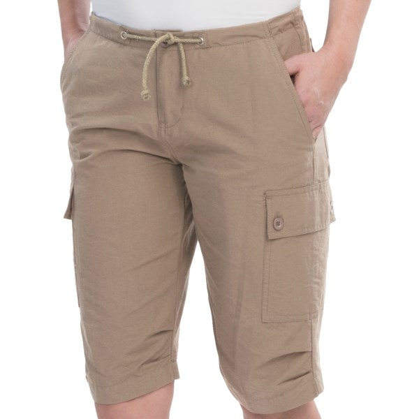 10,000 Feet Above Sea Level Long Cargo Shorts (For Women)
