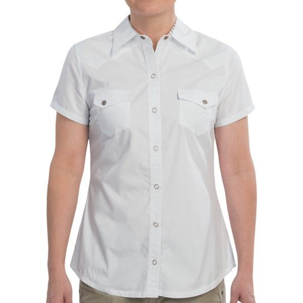 Dickies Cotton Poplin Snap Front Shirt - Short Sleeve (For Women)