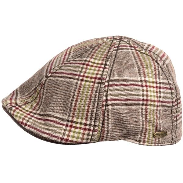 Stetson Ivy Plaid Raton Duckbill Cap (For Men)