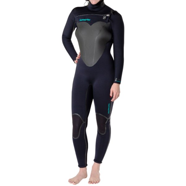 CLOSEOUTS . Hyperflexand#39;s Skull hooded wetsuit is for surfers who are undaunted by winter conditions and icy water temps. The extremely warm 5/4/3mm AtomicFoam neoprene has an AQ6 thermal fabric lining, ReactorCore panels and Duratex knee pads. Available Colors: BLACK. Sizes: 4, 6, 8, 10, 12, 14.