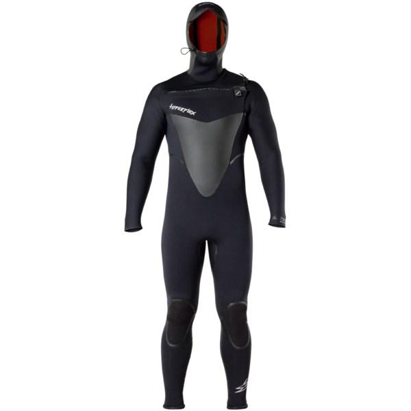 Hyperflex Skull Hooded Front Zip Full Wetsuit - 6/5/4mm (For Men)