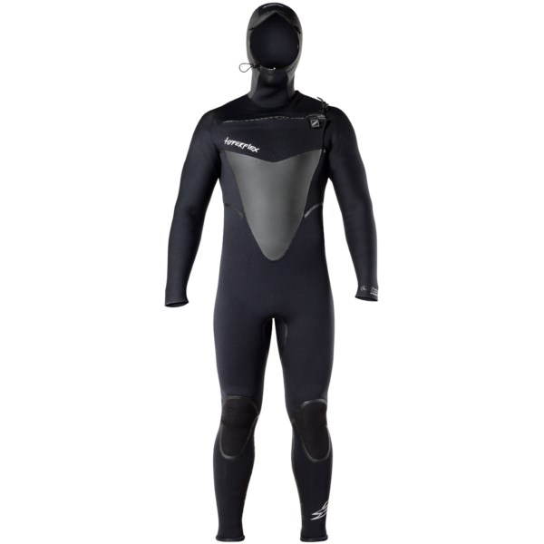 Hyperflex Skull Hooded Front Zip Full Wetsuit - 4mm (For Men)