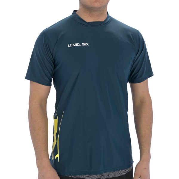 Level Six Coastal Rash Guard Shirt - UPF 50 , Loose Fit, Short Sleeve (For Men)