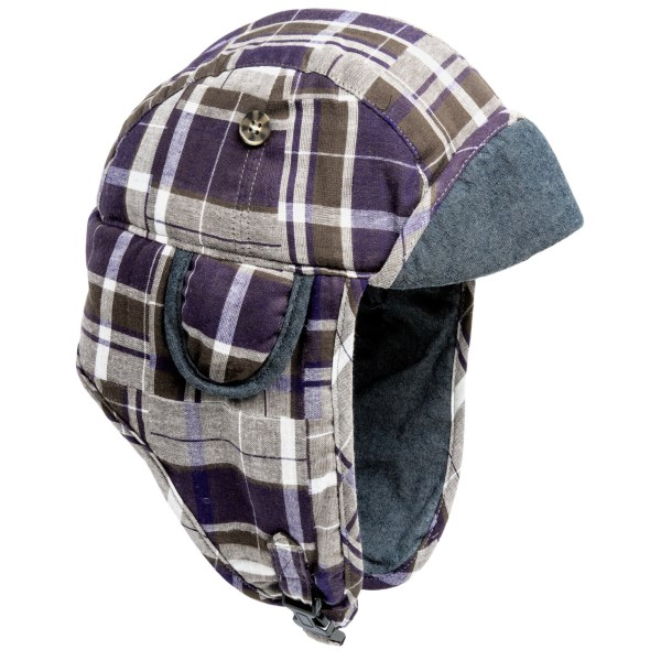 Mad Bomber(R) Madras Plaid Aviator Hat (For Men and Women)