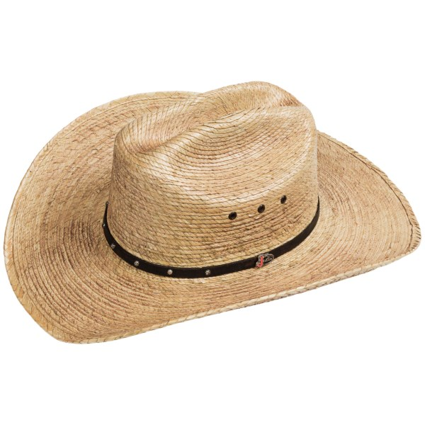 Justin Ambush Cowboy Hat - Palm Straw, Cattleman Crown (For Men and Women)
