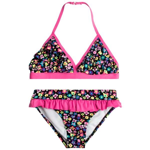 Jantzen Neon Ditsy Halter Bikini - UPF 50  (For Girls)