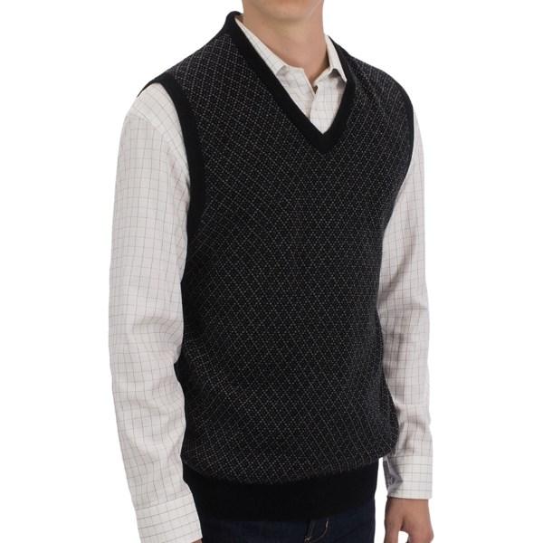 Toscano Mini-diamond Sweater Vest - V-neck (for Men)
