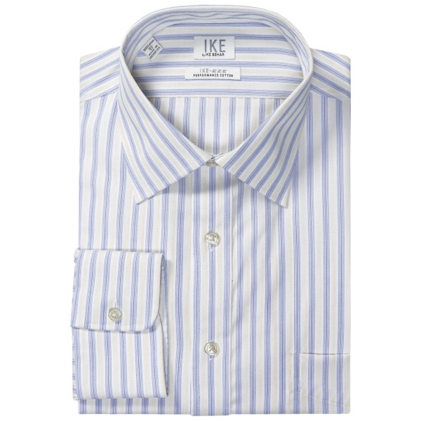 Ike by Ike Behar Stripe Dress Shirt - No-Iron Cotton, Long Sleeve (For Men)