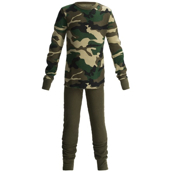 2NDS . From bedtime to mountain mayhem, Fruit of the Loomand#39;s Thermal Underwear set keeps boys comfy in thermal-knit fabric. Available Colors: CAMO, BLUE CAMO, RED FOOTBALL, BLACK SHRED XTREME, GREY, NAVY. Sizes: XS, S, M, L, XL, 2XL, 3XL.