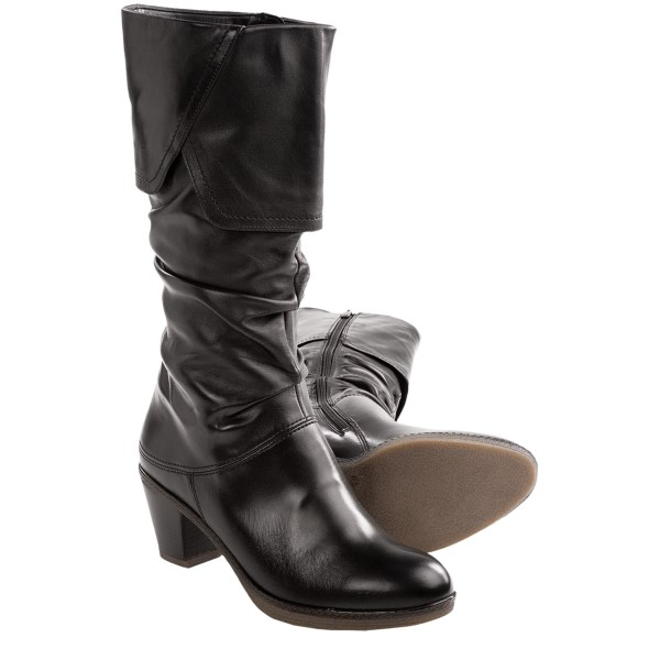 CLOSEOUTS . As names go, Bliss comes pretty close to perfect in characterizing Araand#39;s Bliss boots, which manage to be moderately dressy and agreeably slouchy all at the same time. Lightweight and amazingly comfortable, too, with a crepe rubber sole for nice traction in winter. Available Colors: BLACK LEATHER. Sizes: 5, 5.5, 6, 6.5, 7, 7.5, 8, 8.5, 9, 9.5, 10, 10.5, 11, 11.5.