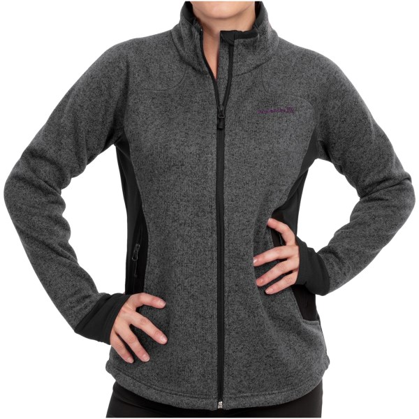 CLOSEOUTS . Stylish and functional, the Avalanche Wear Gemini jacket features a soft polyester knit shell and spandex panels that provide freedom of movement for your favorite cool-weather activities. Zip pockets and interior stash pockets provide plenty of storage when youand#39;re on the move. Available Colors: DOVE GREY, CHARCOAL, WISTERIA, PEACOCK. Sizes: XS, S, M, L, XL, 2XL.