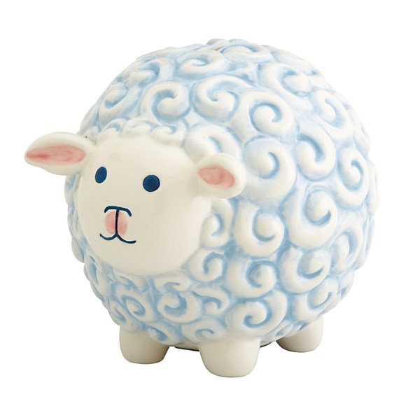 CLOSEOUTS . Painted to resemble a sweet little lamb, Gorhamand#39;s Little Boy Blue sheep bank couldnand#39;t be a sweeter accent to your little oneand#39;s nursery. Available Colors: BOY.