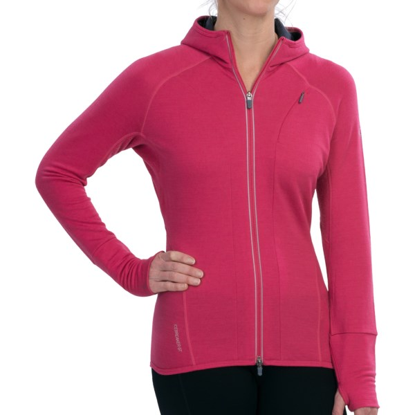 Icebreaker Quantum Hoodie UPF 40+, Merino Wool (For Women)