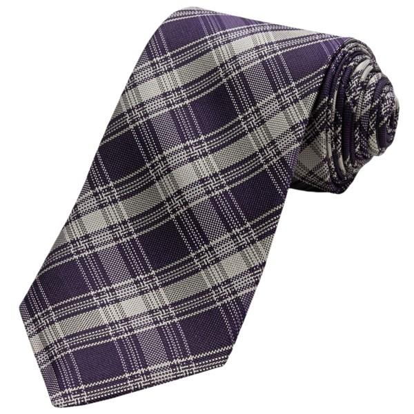John Varvatos Star USA Over Plaid Silk Tie (For Men)