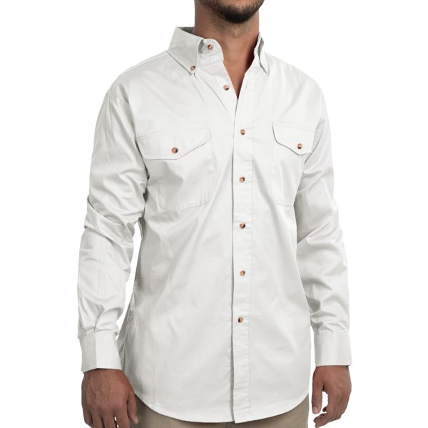 CLOSEOUTS . A timeless classic that crosses the fence from workwear to casual sophistication, Wallsand#39; Ranchwear cotton twill shirt sports a clean design with a durable, premium fabric and button-down collar. Available Colors: BUTTER, RED, WHITE. Sizes: L, 2XL, 3XL, M, S, XL.